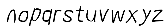 MewTooHand Bold Condensed Italic Font LOWERCASE