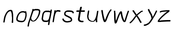 MewTooHand Bold Italic Font LOWERCASE