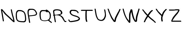 MewTooHand Bold Wide Leftalic Font UPPERCASE
