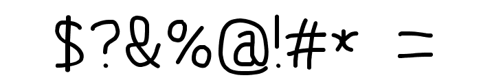MewTooHand Bold Font OTHER CHARS