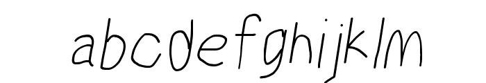 MewTooHand Condensed Italic Font LOWERCASE