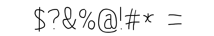MewTooHand Condensed Font OTHER CHARS