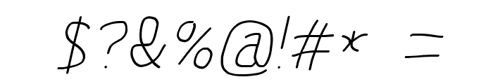 MewTooHand ExtraItalic Font OTHER CHARS