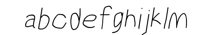MewTooHand Italic Font LOWERCASE