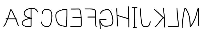 MewTooHand Reversed Font UPPERCASE