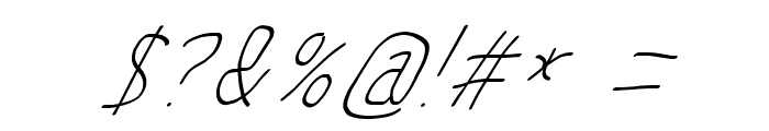 MewTooHand UltimateItalic Condensed Font OTHER CHARS