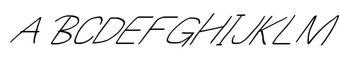 MewTooHand UltimateItalic Wide Font UPPERCASE