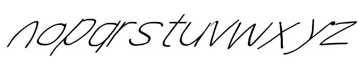 MewTooHand UltimateItalic Wide Font LOWERCASE