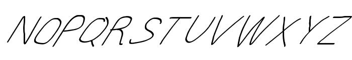 MewTooHand UltimateItalic Font UPPERCASE