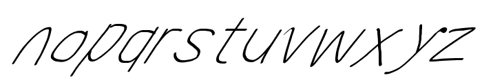 MewTooHand UltimateItalic Font LOWERCASE