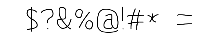 MewTooHand Font OTHER CHARS