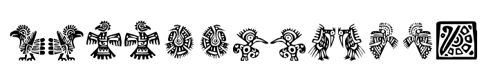 Mexican Ornaments Font LOWERCASE