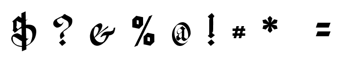 Meyne Textur UNZ1A Italic Font OTHER CHARS