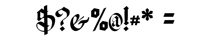Meyne Textur UNZ1A Font OTHER CHARS