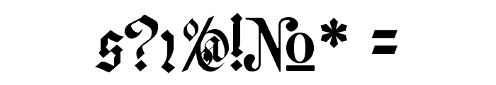 Meyne Textur Font OTHER CHARS