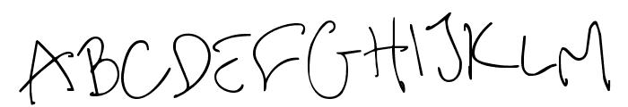 me handwritin Thin Font LOWERCASE