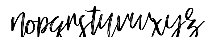 mellony dry brush Font LOWERCASE