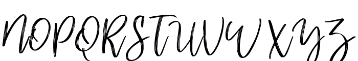 mellonydrybrush Font UPPERCASE