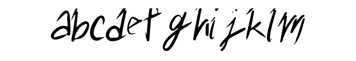 messyhand Font LOWERCASE
