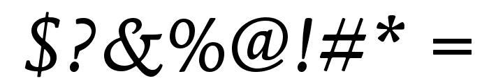 MendozaRomanStd-BookItalic Font OTHER CHARS