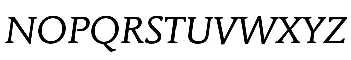 MendozaRomanStd-BookItalic Font UPPERCASE
