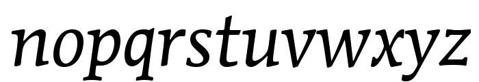 MendozaRomanStd-BookItalic Font LOWERCASE