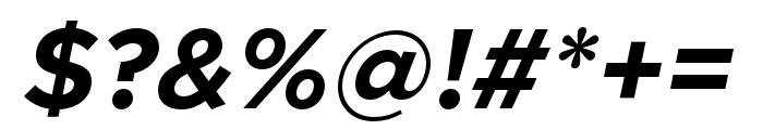 Metropolis BoldItalic Font OTHER CHARS