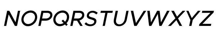 Metropolis MediumItalic Font UPPERCASE