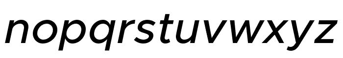 Metropolis MediumItalic Font LOWERCASE