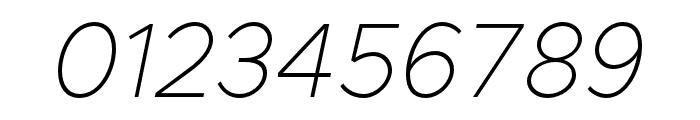 Metropolis ThinItalic Font OTHER CHARS