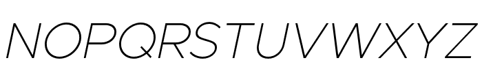 Metropolis ThinItalic Font UPPERCASE
