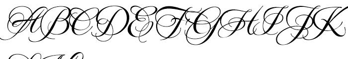 Mea Culpa ROB Regular Font UPPERCASE