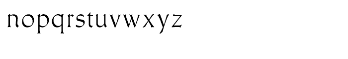 Meister Antiqua Book Font LOWERCASE