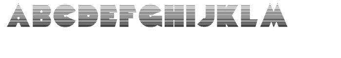 Mekon Gradient Font UPPERCASE