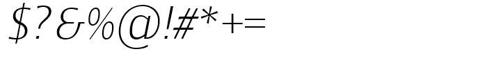 Mellnik Text SuperLight Italic Font OTHER CHARS
