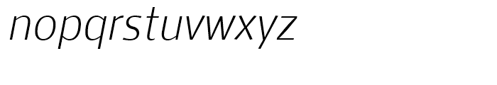 Mellnik Text SuperLight Italic Font LOWERCASE