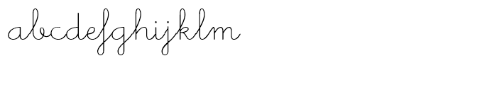 Memimas Regular Alternate  Ligatures Font LOWERCASE