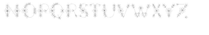 Menina Formosa Regular Font UPPERCASE