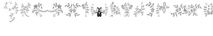 Menina Poderosa Ornaments Font UPPERCASE