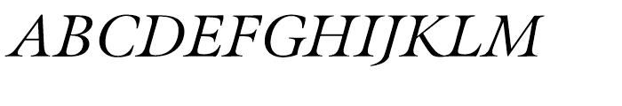 Meno Italic Font UPPERCASE