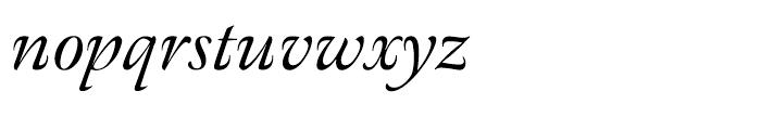 Meno Italic Font LOWERCASE