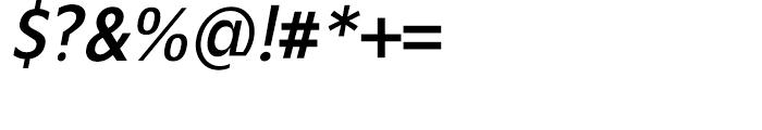 Mensa Condensed Regular Italic Font OTHER CHARS