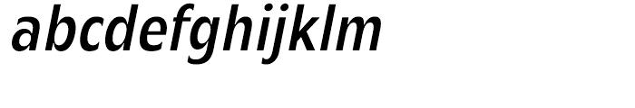 Mensa Condensed Regular Italic Font LOWERCASE