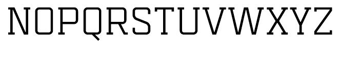 Mensura Slab Regular Font UPPERCASE