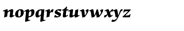 Mentor Black Italic Font LOWERCASE