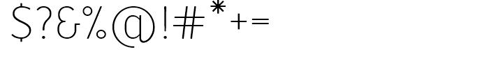 Merlo Light Font OTHER CHARS
