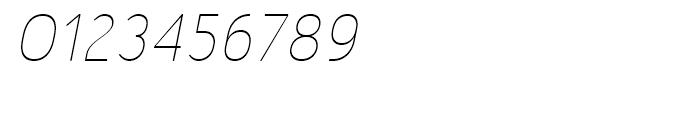 Merlo Thin Italic Font OTHER CHARS