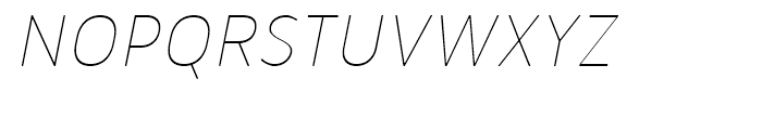 Merlo Thin Italic Font UPPERCASE