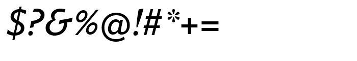 Metro Nova Medium Italic Font OTHER CHARS