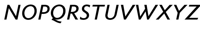 Metro Nova Medium Italic Font UPPERCASE